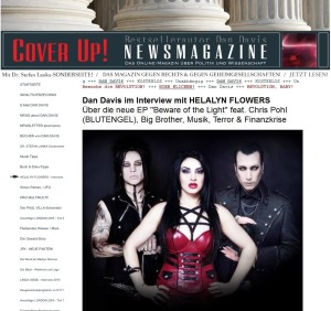 Helalyn Flowers interview   for Cover Up! Magazine
